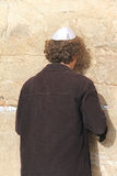 Prayer at the Wailing wall Stock Photos