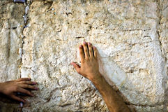 Prayer at the wailing wall, Jerusalem Israel Stock Images