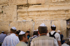 Prayer at the wailing wall Royalty Free Stock Photo