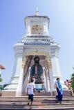 Prayer at Wat Kanlayanamit Stock Image
