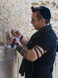 Prayer in The Western wall Royalty Free Stock Photos
