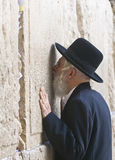 Prayer in The Western wall Stock Images