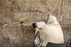 Prayer at Western Wall. Stock Photos