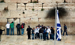Prayer at the Western Wall of Temple Royalty Free Stock Photography