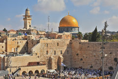 Prayer at the Western Wall of the Temple Stock Photos