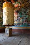 Prayer Wheel. In Bhutanese monastery Royalty Free Stock Photo