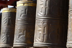 Prayer wheel. In shenyang city china,beita tibet temple,converted from RAW Royalty Free Stock Photography