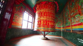 Prayer wheel at Boudhanath, Kathmandu, Nepal stock video
