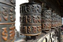 Prayer Wheel. Buddhism, Temple in Kathmandu, Nepal royalty free stock image