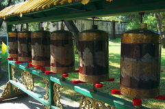 Prayer wheel in Chengde Tibetan Buddhism monastery Royalty Free Stock Images