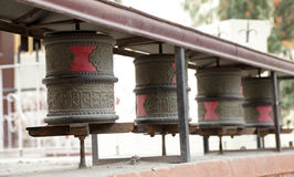 Prayer wheel in the complex of Shey Palace Royalty Free Stock Photography