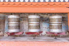 Prayer wheel at Hemis monastery Royalty Free Stock Photos
