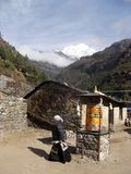 Prayer wheel in Himalayas. Royalty Free Stock Photos