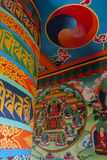 Prayer wheel. JUNBESI, NEPAL - CIRCA OCTOBER 2013: prayer wheel circa October 2013 in Junbesi Stock Images