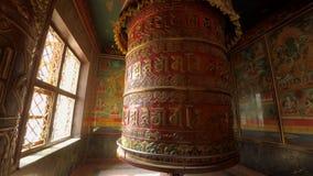 Prayer wheel in Kathmandu, Nepal stock video