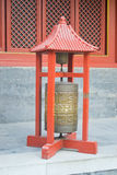 Prayer wheel, Lama Temple, Beijing, China Stock Photo