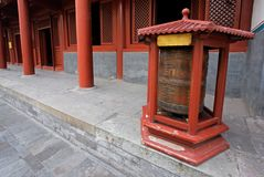 Prayer wheel, Lama Temple, Beijing, China Royalty Free Stock Photos