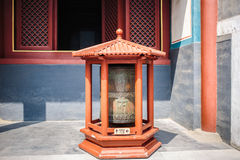 Prayer wheel in Lama temple, Beijing, China Stock Image