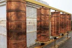 Prayer wheel in matisi Stock Photo