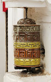 Prayer wheel in Swayambhunath Stupa Stock Photos