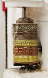 Prayer wheel in Swayambhunath Stupa Stock Photos