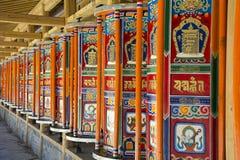 Prayer Wheel. In temple, Langmusi, Gannan Stock Photography