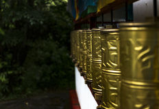 Prayer wheel , Tibet Stock Photography