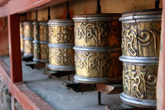Prayer wheel Tibet Stock Photography
