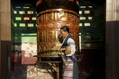 Prayer Wheel Turning Royalty Free Stock Images