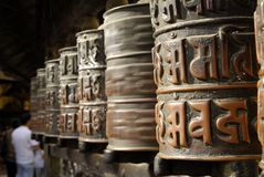 Prayer wheels stock photo