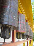 Prayer wheels. At a Tibetan monastery in India Royalty Free Stock Photography