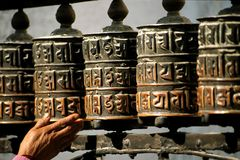 Free Prayer Wheels Royalty Free Stock Images - 2551329