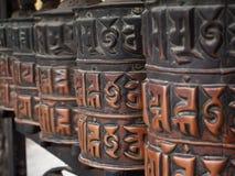 Prayer wheels royalty free stock photo
