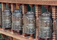 Prayer wheels Stock Images