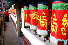Prayer Wheels in McLeod Ganj Royalty Free Stock Photos