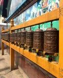 Prayer Wheels at Boudhanath Stupa, Royalty Free Stock Photo