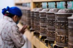 Prayer wheels in Boudhanath Stupa in Kathmandu, Nepal Royalty Free Stock Photography