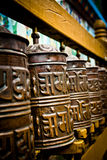 Prayer wheels of Boudhanath Temple, Kathmandu, Nepal Royalty Free Stock Photo