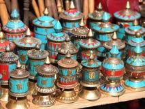 Prayer wheels Stock Image