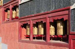 Prayer wheels Stock Photography