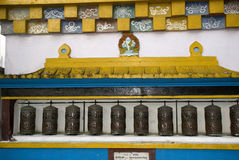 Prayer wheels, Ghoom, West Bengal, India Stock Photography