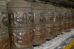 Prayer wheels, Ghoom, West Bengal, India Stock Images