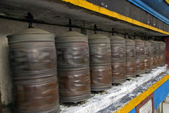 Prayer wheels, Ghoom, West Bengal, India Royalty Free Stock Photography