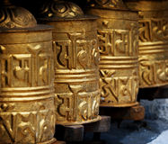Prayer wheels in  Himalayas Royalty Free Stock Photo
