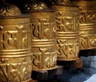 Prayer wheels in  Himalayas Royalty Free Stock Photo