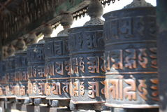 Prayer Wheels of Kathmandu Royalty Free Stock Photos