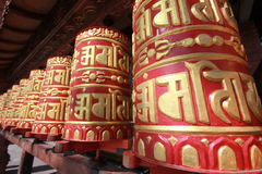 Prayer wheels in kathmandu nepal   Stock Photography
