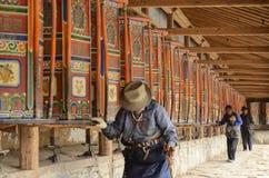 Prayer wheels, Labrang monastery, Xiahe, China Royalty Free Stock Photo