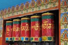 Prayer wheels in McLeod Ganj, Dharamsala, India Royalty Free Stock Image
