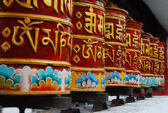 Prayer wheels for meditation Stock Image
